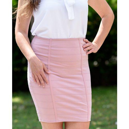 Egyszínű rózsaszín szoknya (S-M)