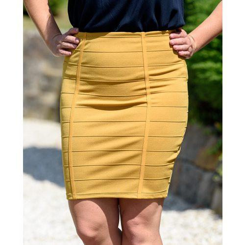 Egyszínű okkersárga szoknya (S-M)