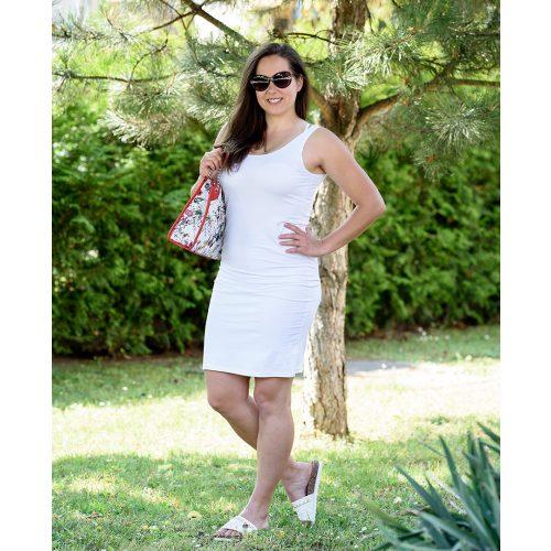 Pántos egyszínű fehér ruha (S/M-L/XL)