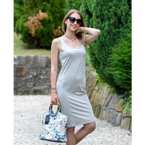 Pántos egyszínű szürke ruha (S/M-L/XL)