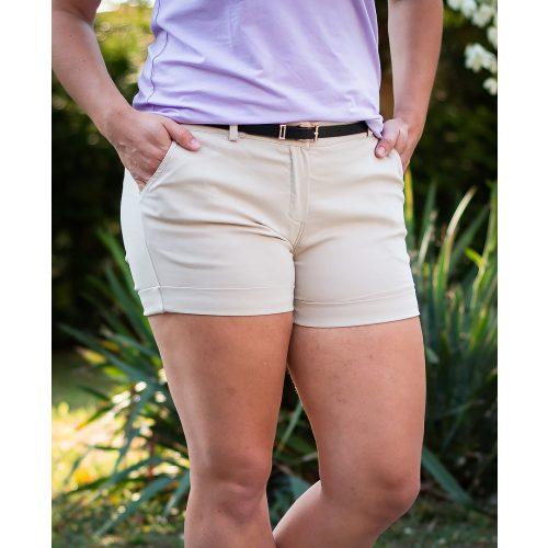 Vászon bézs mini rövidnadrág (S-XXL)