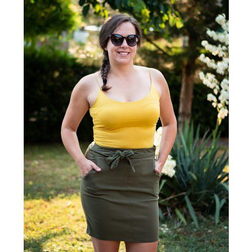 Vékony pántos sárga top (S-L)