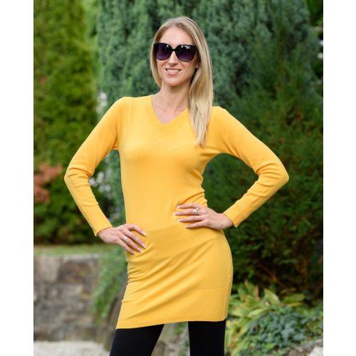 Vékony kötött sárga hosszú ruha (S/M-L/XL)
