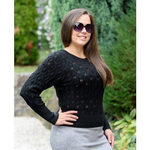Kötött fekete pulóver (S/M-L/XL)