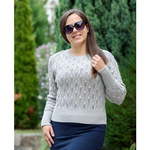 Kötött szürke pulóver (S/M-L/XL)
