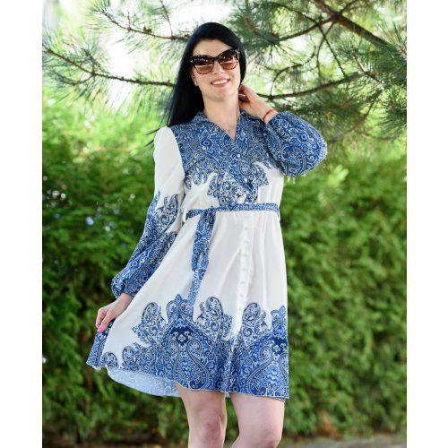 Mandala kék mintás ruha (M-L)