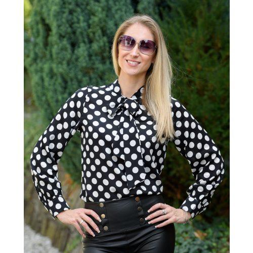 Fekete-fehér pöttyös ing (S-XL)
