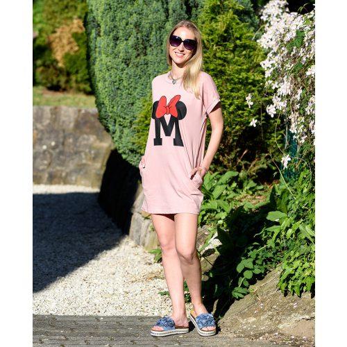 Rózsaszín Minnie ruha (S-M)