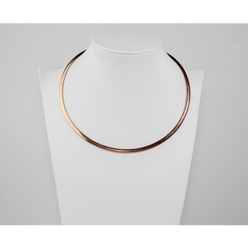 Kígyómintás ezüst nyaklánc bronz bevonattal