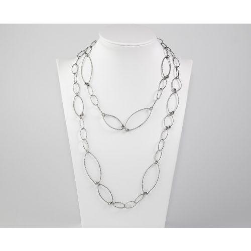 Ovál szemes ezüst nyaklánc